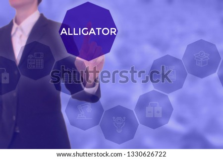 select ALLIGATOR - technology and business concept #1330626722