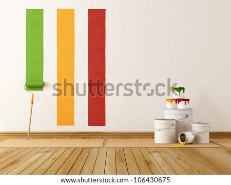 select color swatch to paint wall - rendering