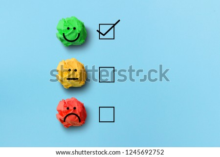 select happy on satisfaction evaluation #1245692752