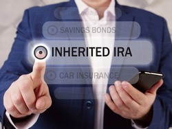 Select INHERITED IRA Individual Retirement Accounts menu item. Modern Bookkeeping clerk use cell technologies.  An inherited IRA is an account that is opened when an individual inherits an IRA