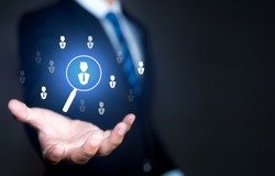 Select leader or employees, Headhunting, Recruitment business and Human Resource Management