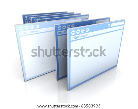 Selected Browser window - stock photo