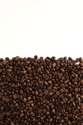 Selected coffee beans backgraund. Arabica
