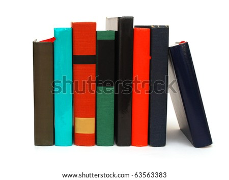 Selection books on white