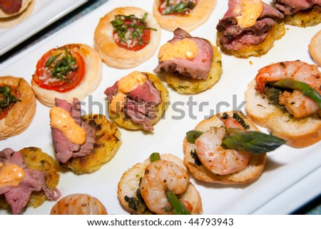 Selection canapes