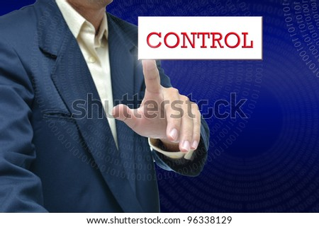Selection idea by business people pointing object on white background.