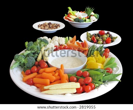 Selection of appetizers - stock photo