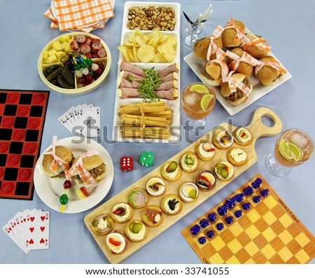 board game night finger foods