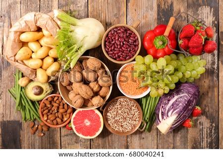 selection of health food #680040241