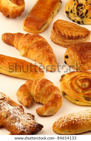 Selection of milk bread pastries