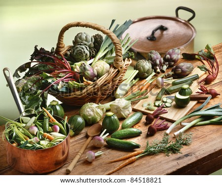 Selection of mini vegetables