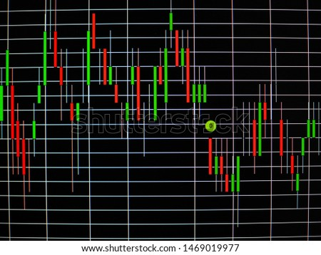 selective focus of business graph and stock graph for background #1469019977