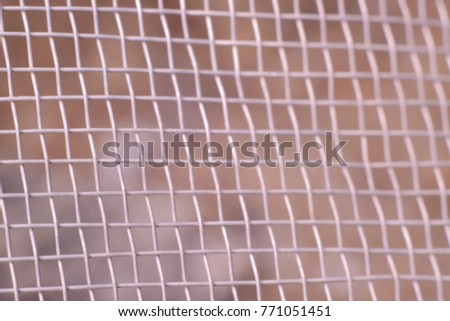 Selective Focus of Mosquito Wire Screen Background #771051451