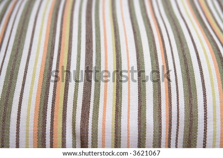 selective focus of patio furniture cushion material