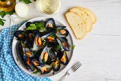 Selective focus on Italian traditional food