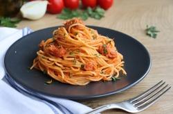 Selective focus on Italian Traditional Pasta