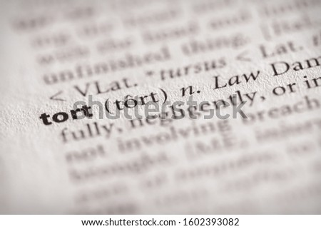 """Selective focus on the word """"tort"""". Many more word photos in my portfolio. Zdjęcia stock ©"""