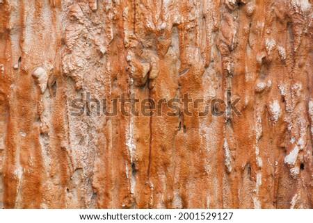 selective focus Papier-mâché wall with molten lava texture. background Foto d'archivio ©