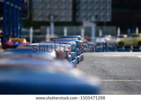 Selective foucs Race  track detail background. Track Background