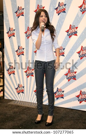 Selena Gomez at a Mall Appearance to promote Ur Votes Count an event for teens planning on voting in the 2012 election Glendale Galleria Glendale CA 08-16-08