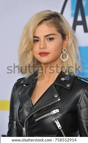 Selena Gomez at the 2017 American Music Awards held at the Microsoft Theater in Los Angeles, USA on November 19, 2017.