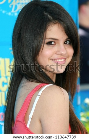 "Selena Gomez at the world premiere of Disney's ""High School Musical 2"". Downtown Disney, Anaheim, CA. 08-14-07"