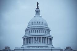 Selenium tone photo of dome of U.S. Capitol Building in Washington, D.C.