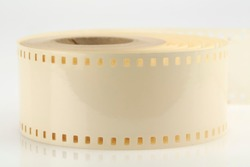 Self-adhesive special tape designed for mounting 35 mm light-sensitive movie tape.