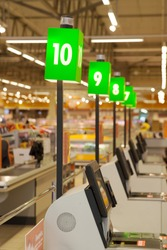 self-checkout hypermarket