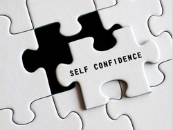 Self - Confidence text on missing puzzle.