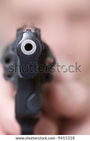 self-defense, woman with gun, at gun point