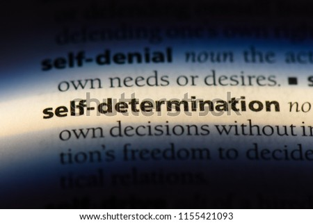 self determination word in a dictionary. self determination concept.