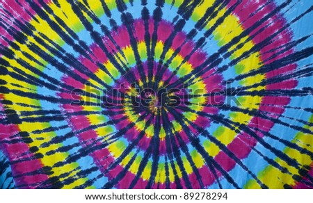 self made homemade tie dye fabric circa 1970