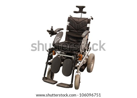 self-propelled wheelchair under the white background - stock photo
