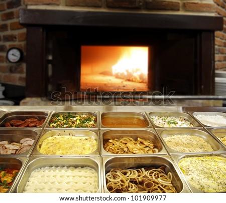 self-service food - stock photo