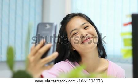 teen girl asian self Young