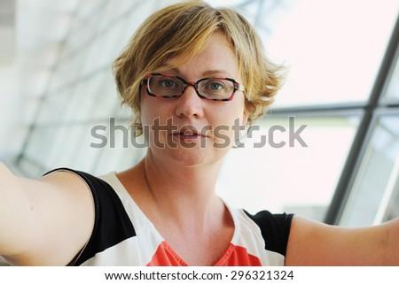 selfie portrait of beautiful 35 ...
