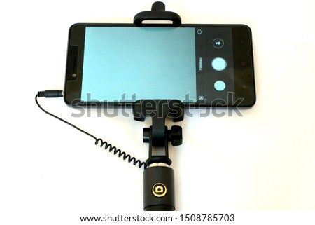 Selfie stick for phone taking photo