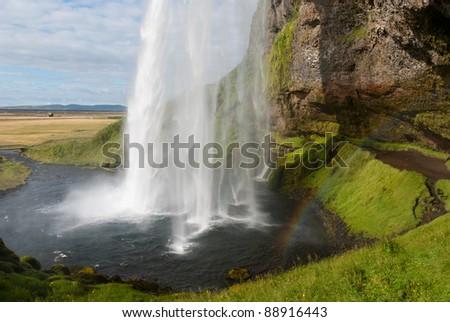 seljalandsfoss the beautiful waterfall in iceland