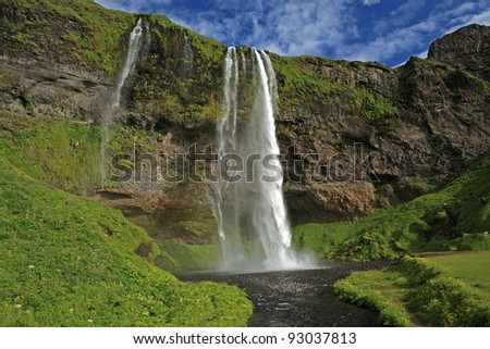 Seljalandsfoss waterfall in southern Iceland