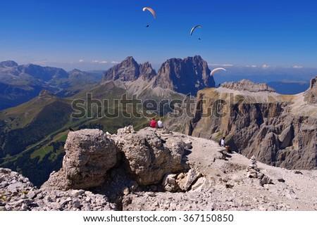 Sella group in Dolomites, italian Alps #367150850