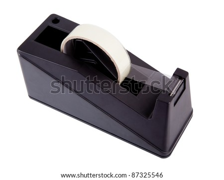 Sellotape dispenser isolated on white