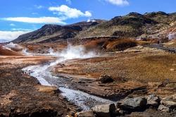 Seltun is a part of Krysuvik geothermal area in Reykjanes peninsula, Iceland
