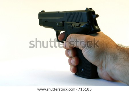 semi-automatic handgun handheld