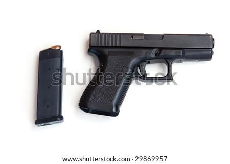 Semi Automatic Pistol with a Loaded Magazine