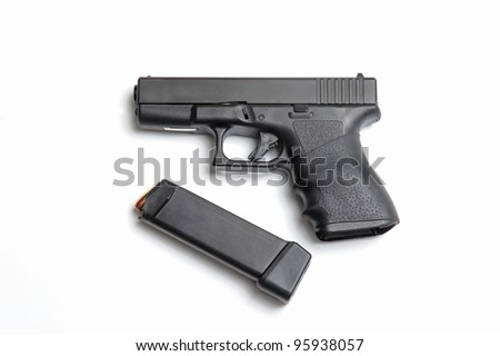 Semi automatic pistol with magazine and ammo