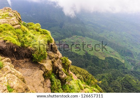 Semien Mountains, Ethiopia, north east of Gondar. World Heritage Site and include the Semien Mountains National Park.