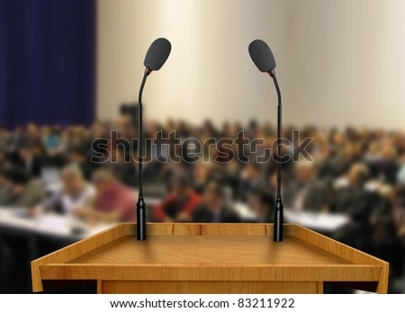 seminar presentation - stock photo