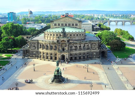 Semper Opera House in Dresden, Germany.