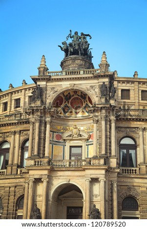 Semper Opera House in Dresden, Germany